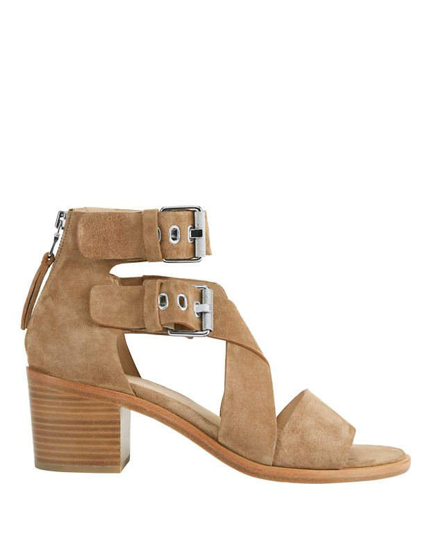 Rag & Bone Madrid Stack Heel Suede Sandals