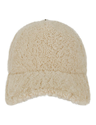 Marilyn Shearling Lamb Baseball Cap