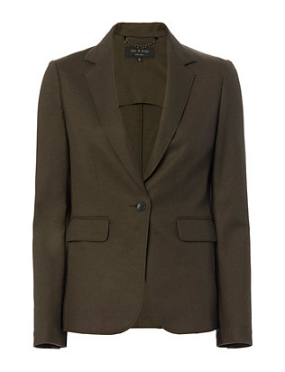 Rag & Bone Club Jacket: Olive