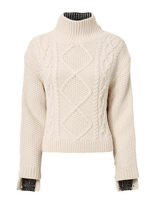 Rag & Bone Ida Two-Tone Turtleneck
