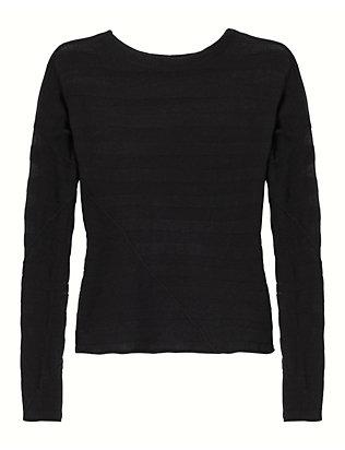Arleen Sheer Stripe Pullover