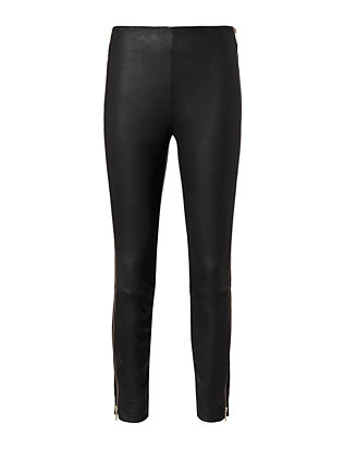 Rag & Bone Chatel Gold Zip Leather Pant