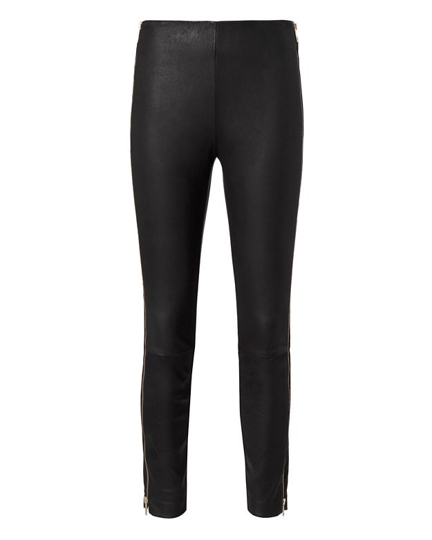 Rag & Bone Chatel Gold Zip Leather Pants