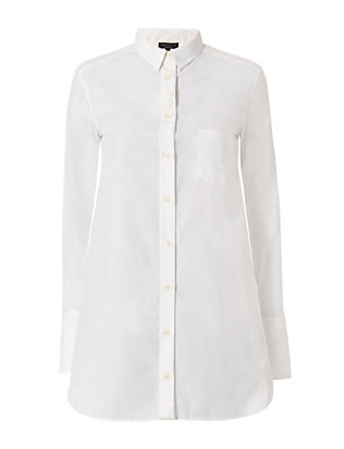 Kingsley Cotton Shirt: White