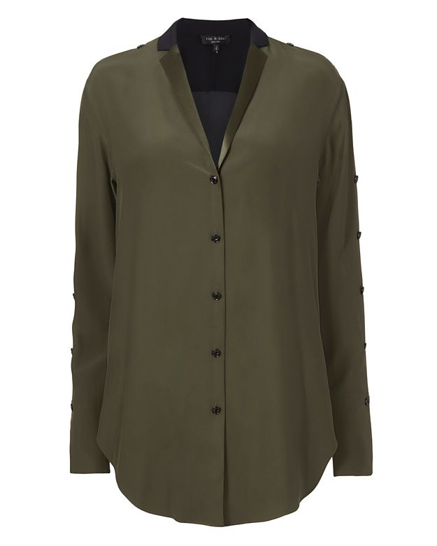 Rag & Bone Leighton Side Tie Blouse