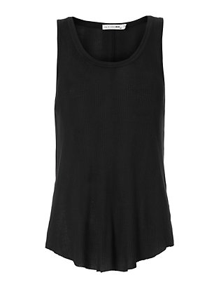 Rag & Bone/JEAN Ribbed Tank: Black