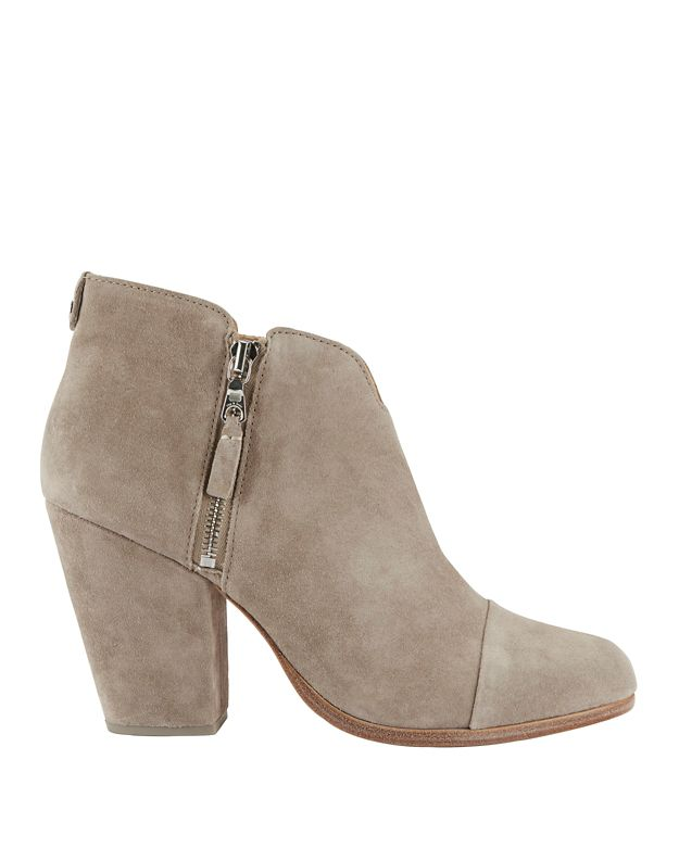 Rag & Bone Margot Double Zip Booties: Stone