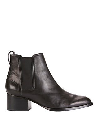 Walker Black Leather Booties
