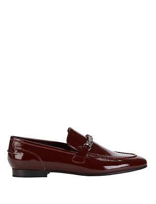 Cooper Chain Detail Patent Leather Loafers