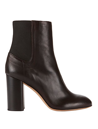 Agnes Leather Booties