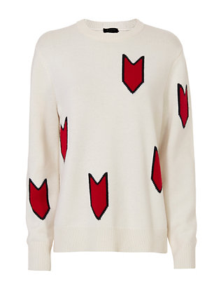 Rag & Bone Jackson Arrow Print Sweater