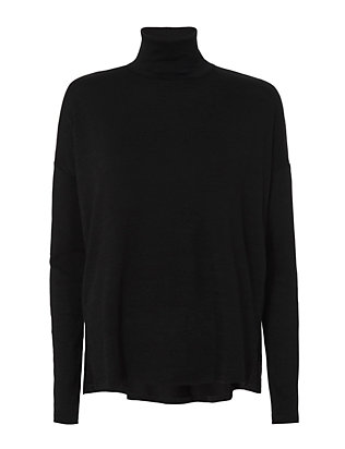Rag & Bone/JEAN Cut Out Back Turtleneck