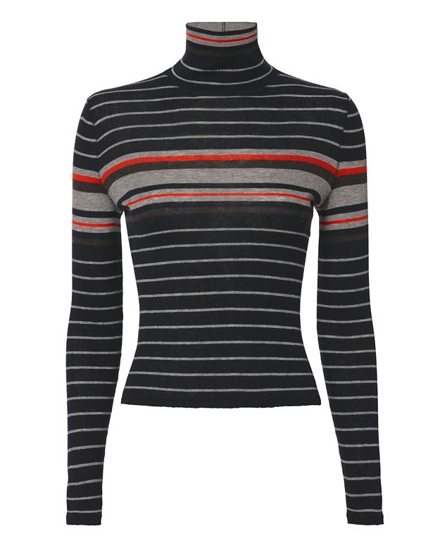 Rag & Bone/JEAN Salute Stripe Rib Turtleneck