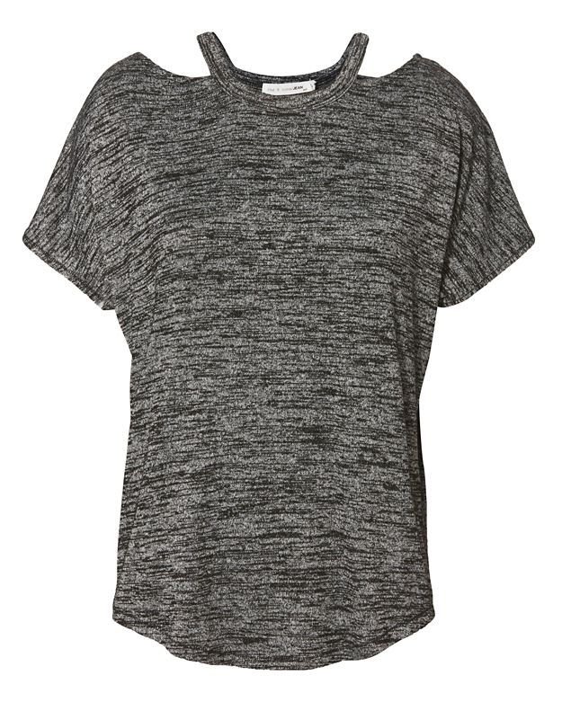 Rag & Bone/JEAN Short Sleeve Top With Cut Out