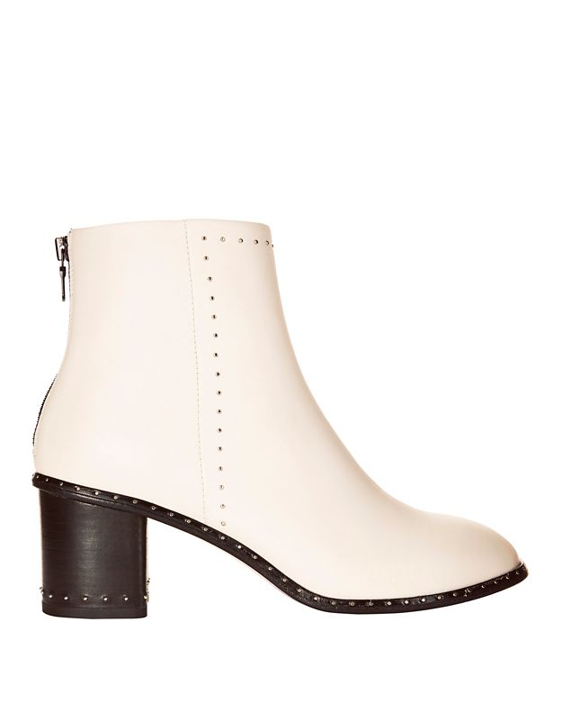 Rag & Bone Willow Studded Ivory Leather Booties