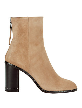 Aspen Suede Studded Sole Booties