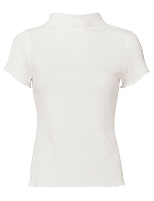 Rag & Bone/JEAN Thermal Mock Neck White Tee