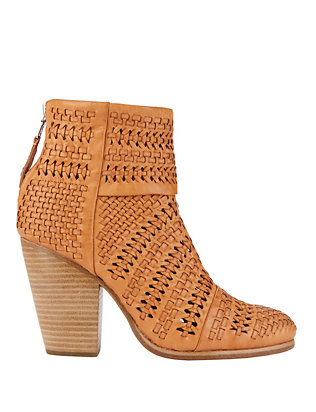 Rag & Bone Newbury Woven Leather Booties