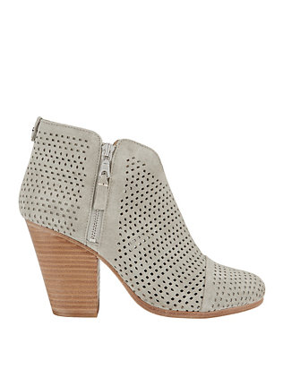 Rag & Bone Margot Perforated Grey Booties