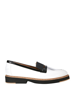 Flamingos Walton Loafer: Black/Silver/White
