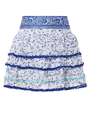 Poupette St Barth Bibi Blue Skirt