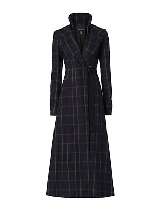 Marissa Webb Feria Plaid Duster Coat