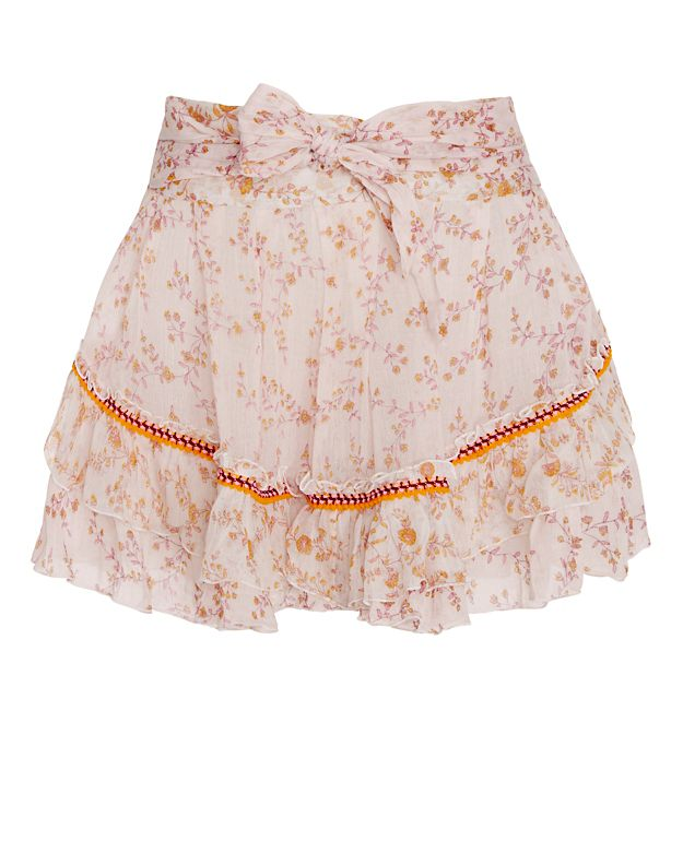 POUPETTE ST BARTH Dalia Floral Pattern Mini Skirt