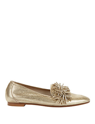 Wild Metallic Fringe Loafers