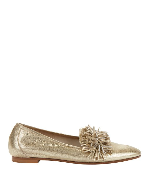 Aquazzura Wild Metallic Fringe Loafers