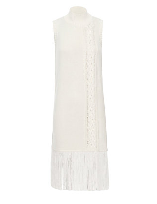 Timo Weiland EXCLUSIVE Fringe Trim Sleeveless Knit Dress