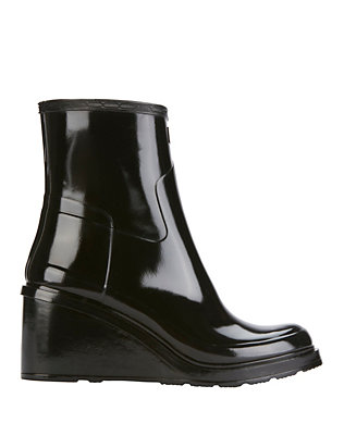 Original Refined Mid Wedge Glossy Rain Boots