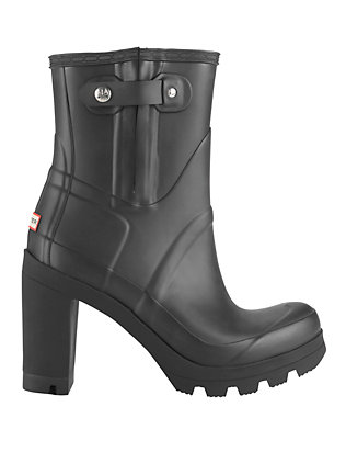 Hunter Original Rubber High Heel Rain Boot: Black