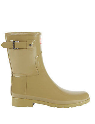 Hunter Refined Glossy Short Rain Boot: Sage