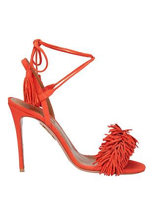 Wild Thing Clementine Suede Fringe Sandals