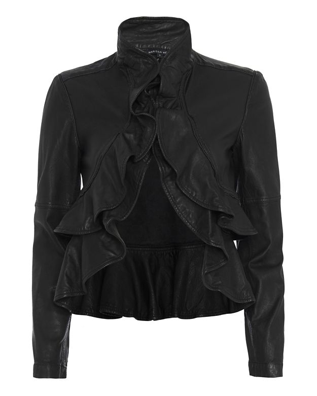 Marissa Webb Ivette Ruffle Leather Jacket