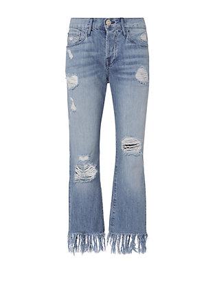 WM3 Mazzy Fringe Crop Jeans