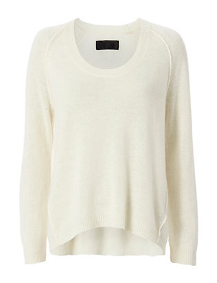Nili Lotan U Neck Raglan Sweater