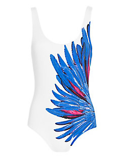 Onia EXCLUSIVE Feather In The Wind Print Swimsuit