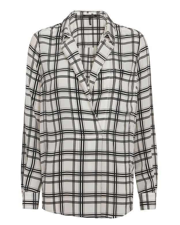 Marissa Webb Danielle Plaid Blouse