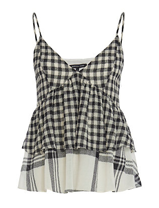 Jan Gingham/Plaid Cami