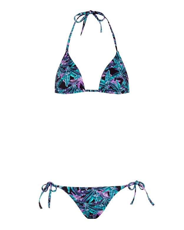 Onia Jungle Print Triangle Bikini