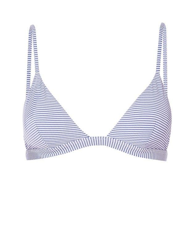Onia Dani Seersucker Stripe Triangle Bikini Top