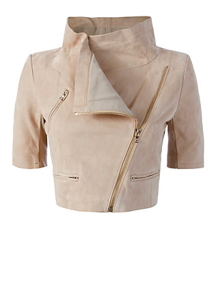 Yigal Azrouel Crop Suede Jacket