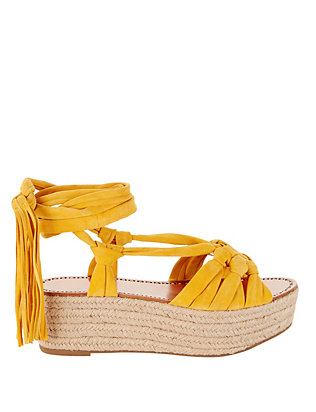 Sigerson Morrison Cosie Suede Rope Sole Espadrille