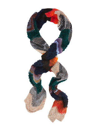 Lurex Chevron Knit Scarf