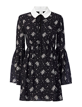 Cinq à Sept Lily Collared Print Dress