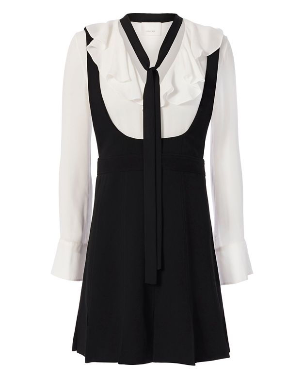 Cinq à Sept Antonia Ruffle Shirting Dress