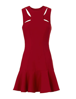 Cinq à Sept Scorpio Cutout Tulip Hem Dress