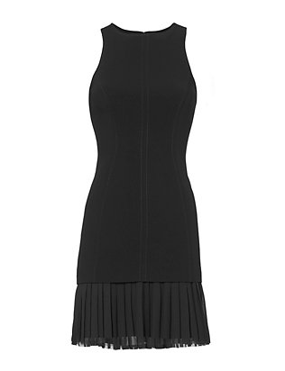 Cinq à Sept Catriona Pleated Hem Dress