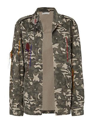 Embellished Camo Jacket